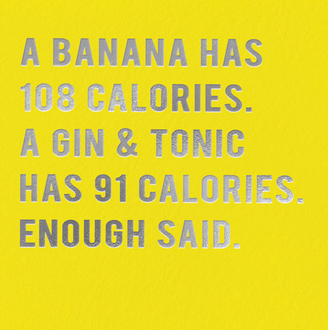 Banana has 108 calories