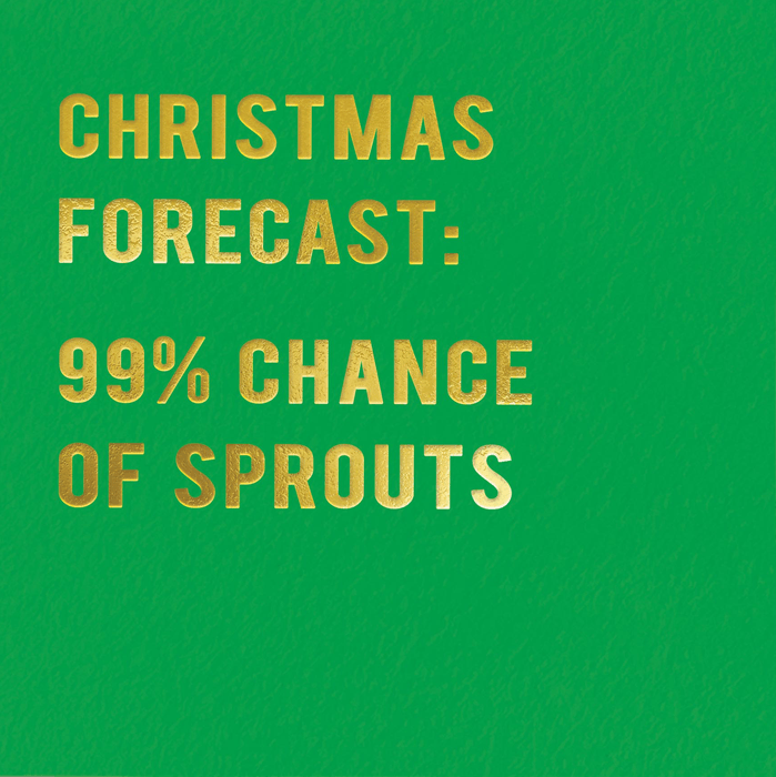 Funny Christmas Cards - Christmas Forecast - Sprouts