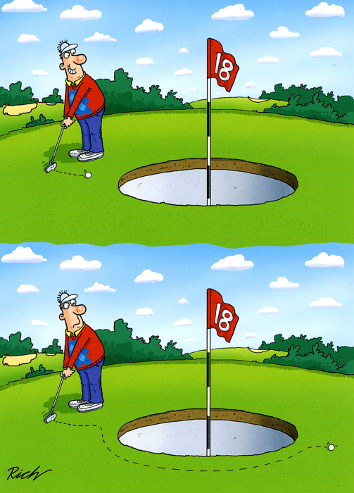 Funny Cards - Large Hole On Golf Green
