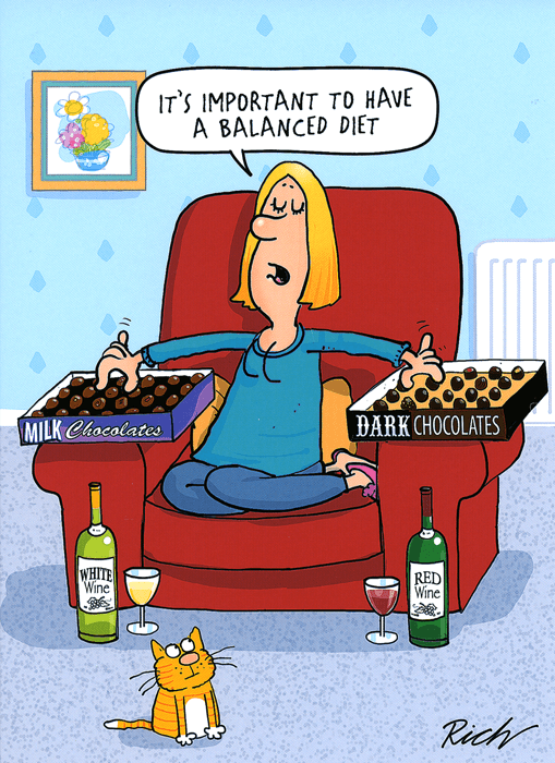 Humorous Card - Important To Have A Balanced Diet