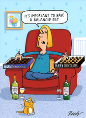 Funny Cards - Important To Have A Balanced Diet