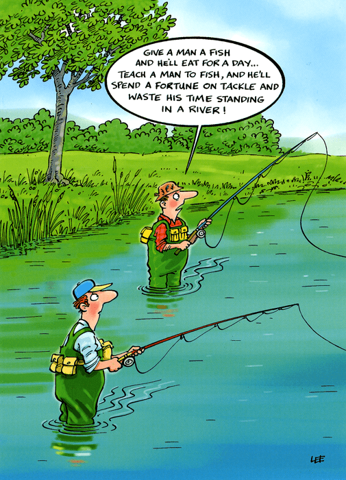 Funny Cards - Teach A Man To Fish