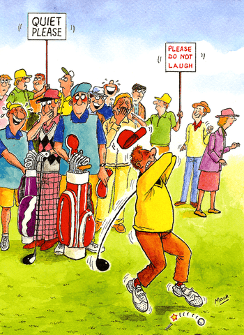 Funny Cards - Golf - Quiet Please