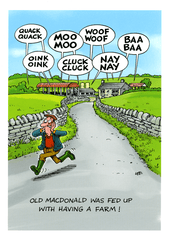 Funny Cards - Old MacDonald Was Fed Up