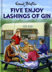 Birthday Card - Five Enjoy Lashings Of Gin