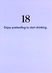 Birthday Card - 18th - Pretend To Start Drinking