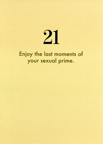 21st - Last moments of sexual prime
