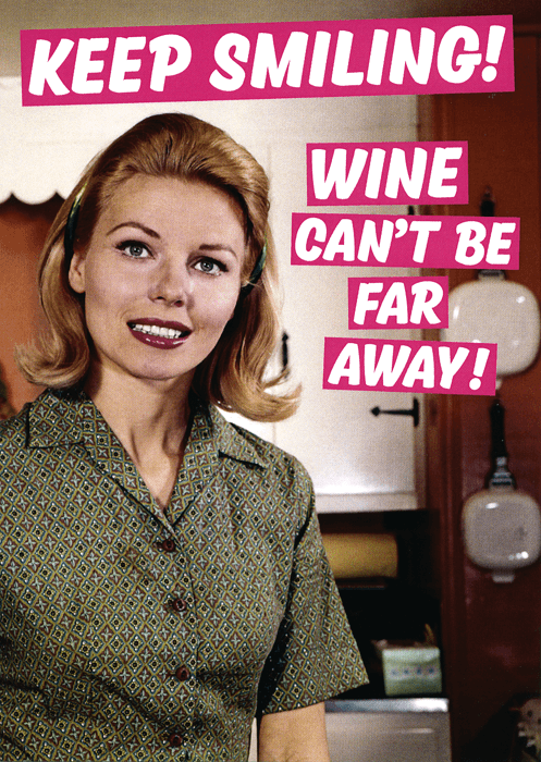 Funny Cards - Wine Can't Be Far Away