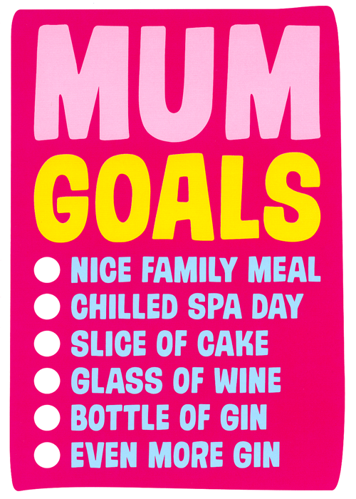 Mother's Day Cards - Mum Goals