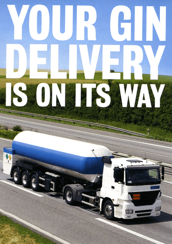 Funny Cards - Gin Delivery On Its Way