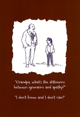 Funny Cards - Difference Between Ignorance And Apathy