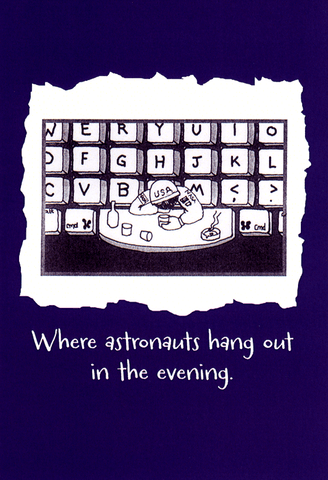 Funny Cards - Where Astronauts Hang Out