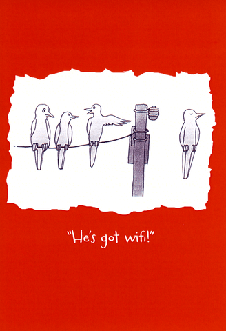 Funny Cards - He's Got Wifi!
