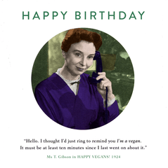 Birthday Card - Remind You I'm A Vegan