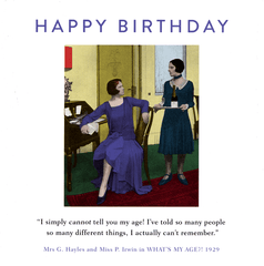 Birthday Card - My Age - Can't Actually Remember