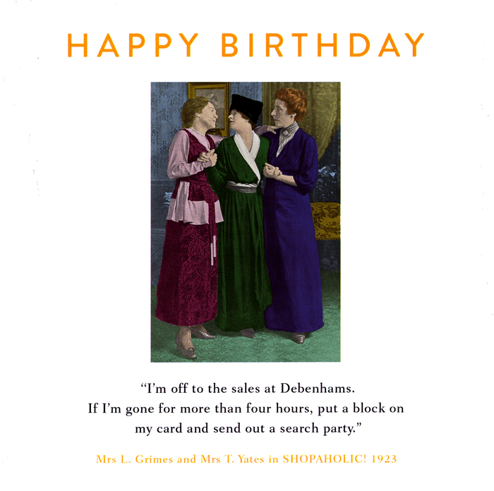 Birthday Card - Off To The Sales