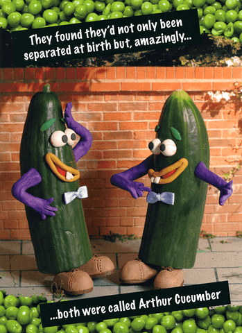 Birthday Card - Arthur Cucumber