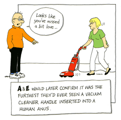 Funny Cards - Vacuum Cleaner - A & E