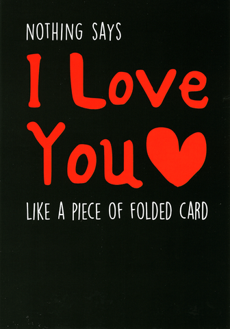 Nothing says Love You like folded card