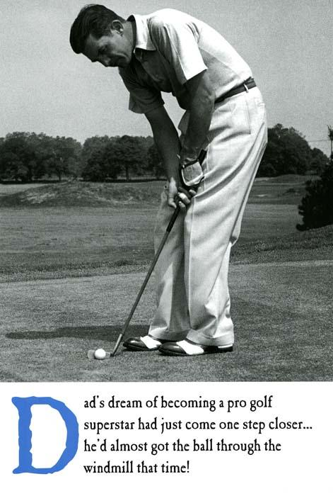 Funny Father's Day Cards - Dad's Dream Of Professional Golf