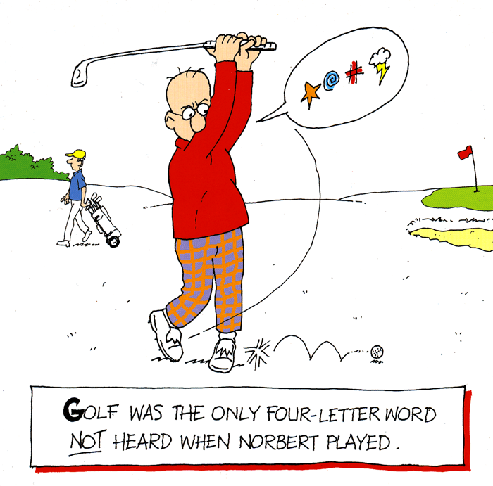Birthday Card - Golf - Four Letter Word