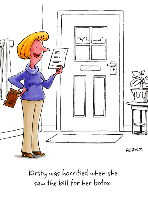 Funny Card Horrified When She Saw The Bill For Botox