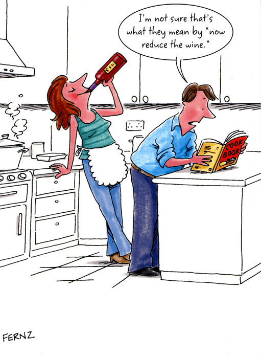 Funny Card By Fernz Reduce The Wine Comedy Card Company