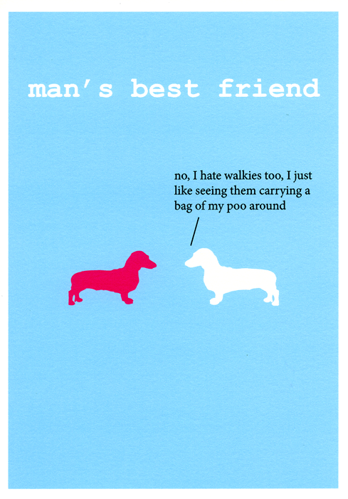 Funny Cards - Carrying A Bag Of My Poo Around