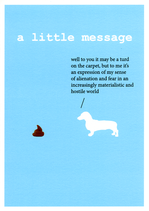 Funny Cards - A Little Message