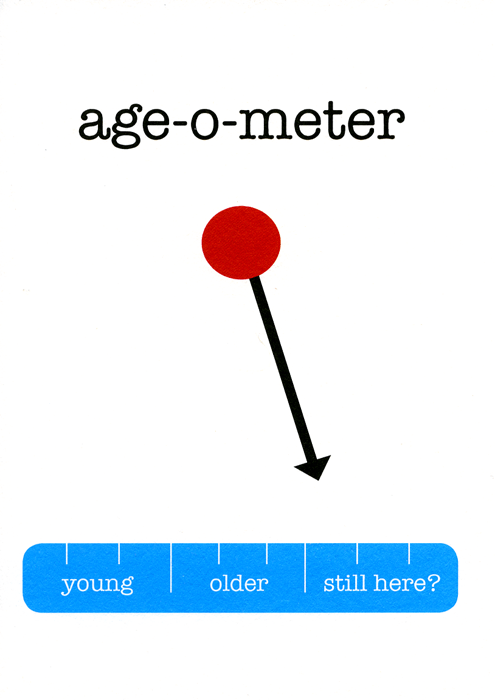 Birthday Card - Age-O-Meter