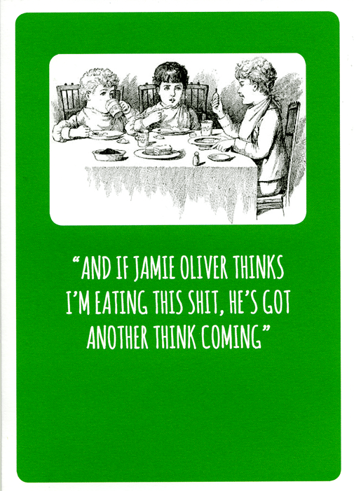 Funny Cards - If Jamie Oliver Thinks I'm Eating This Shit