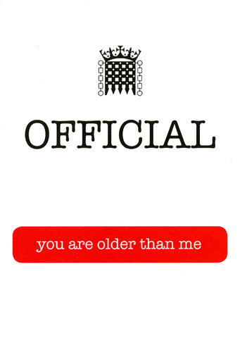 Birthday Card - Official - You Are Older Than Me