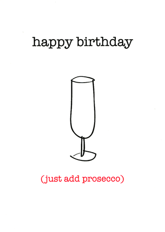 Just add prosecco