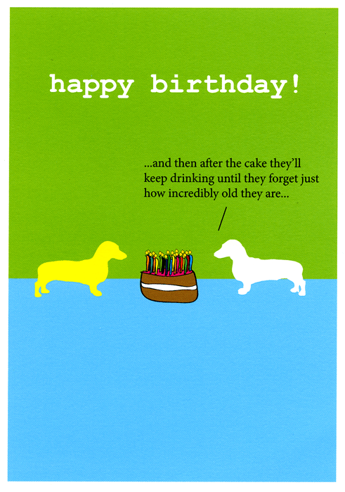 Birthday Card - Birthday - Drinking Until They Forget