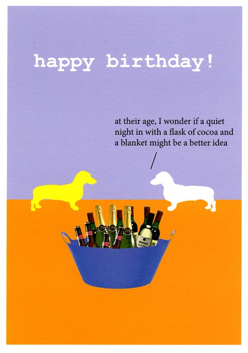 Birthday Card - Quiet Night In Might Be A Better Idea