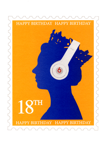 18th birthday - postage stamp