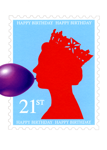 21st Birthday - Postage stamp