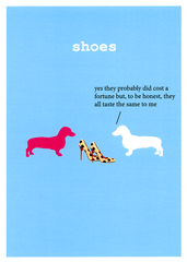 Funny Cards - Shoes - All Taste The Same To Me