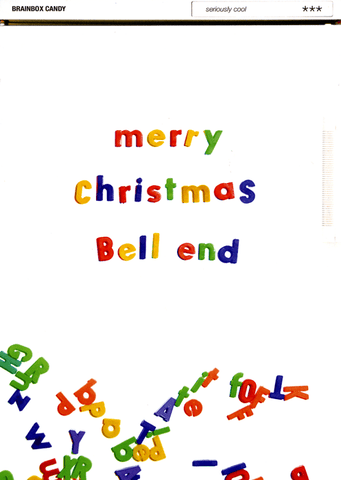 Rude Christmas Cards - Merry Christmas Bell End