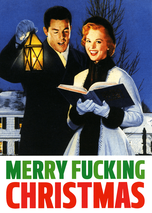 Rude Christmas Cards - Merry F***ing Christmas