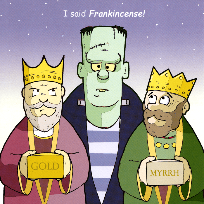 Funny Christmas Cards - I Said Frankincense!