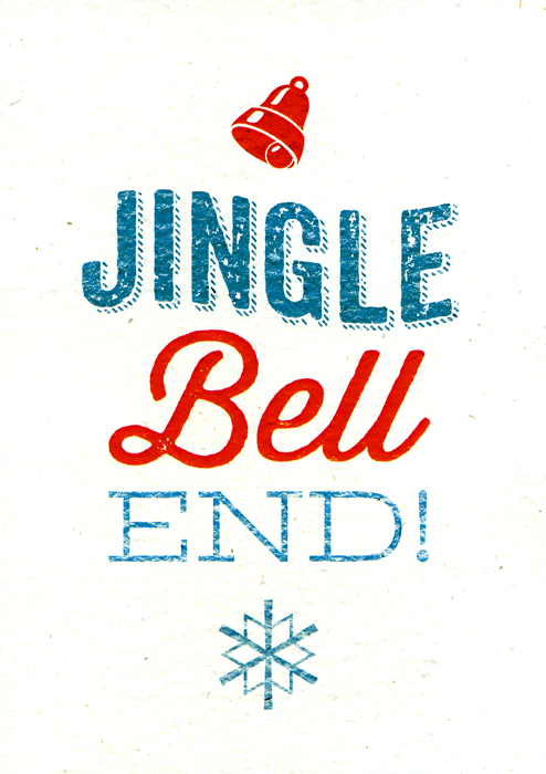 Rude Christmas Cards - Jingle Bell End