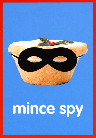 Funny Christmas Cards - Mince Spy