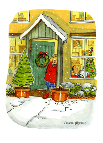 Funny Christmas Cards - Potted Christmas