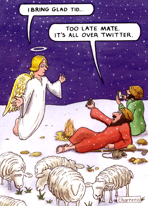 Funny Christmas Cards - Too Late - All Over Twitter