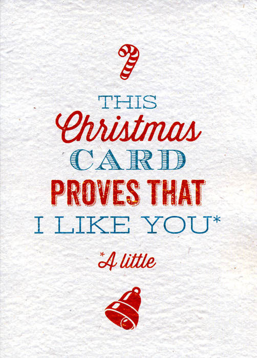 Funny Christmas Cards - This Christmas Card Proves I That Like You