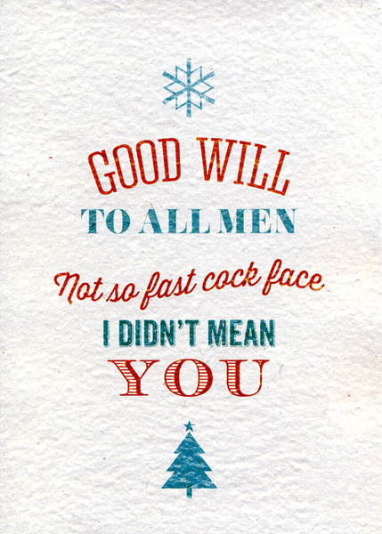 Rude Christmas Cards For People You Hate | Stay At Home Mum
