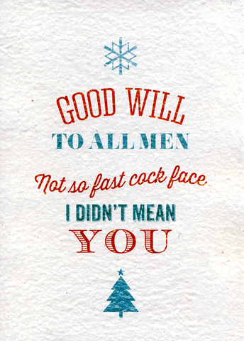 Rude Christmas Cards - Hilariously funny - Offensive - rude Xmas ...
