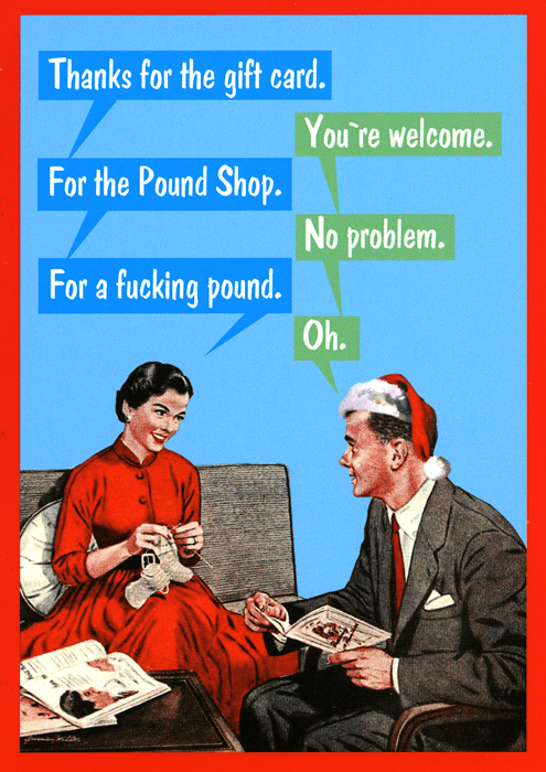 Funny Card - Christmas gift card for the Pound Shop | Comedy Card ...