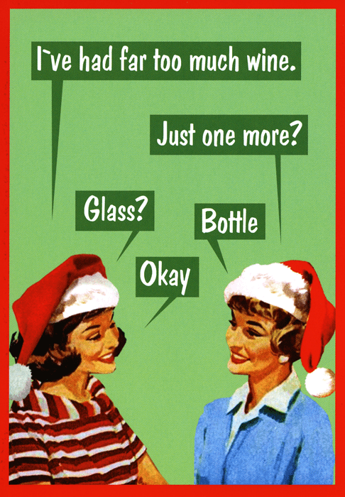Funny Christmas Cards - Had Far Too Much Wine